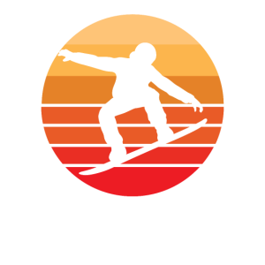 Snowboardentwurf Retro Vintages cooles Snowboarding
