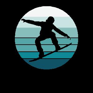 Snowboard Druck Retro Vintage Cool Snowboard