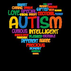 Autismus-Bewusstseins-Herz-intelligente
