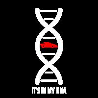 Rennwagen in meinem DNA-Hemd-Geschenk für Fahrer oder