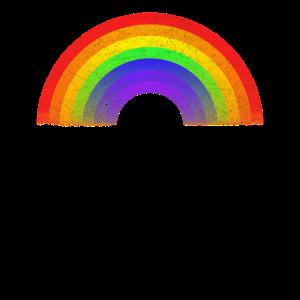 Regenbogen-Hemd Vintage Retro Achtzigerjahre