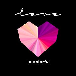 love is colorful Polygon Herz - Geschenkidee