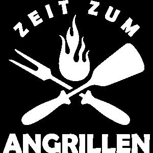 Zeit zum Angrillen / Grill Geschenk Idee