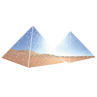 Pyramiden in der Wüste Saharra T Shirt Geschenk