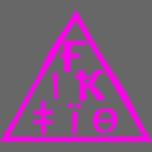 fiktio logo pink