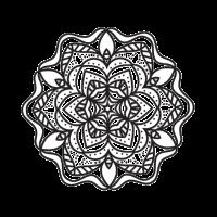 Transparenz und weißes Duo für dieses Mandala