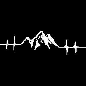 Berge Berg Alpen Gebirge Herzschlag EKG Puls