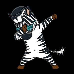 Dabbing Zebra T-Shirt Lustig