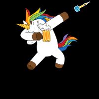 Dabbing Einhorn dab Unicorn Dart Bier Darts