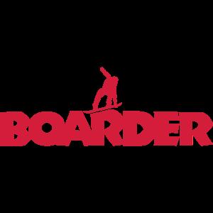 Boarder Snowboard (Rot)