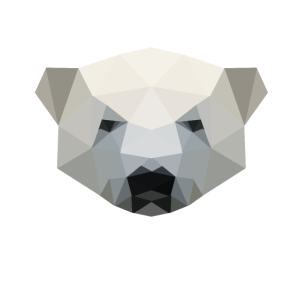 Eisbär, Eisbärenkopf polygon geometrisch