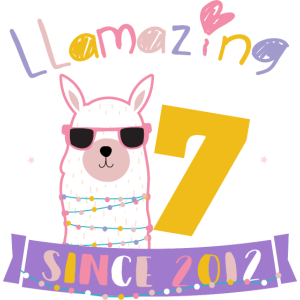 Girls 7th Birthday LLamazing Since 2012