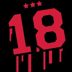 18 Star Graffiti Logo