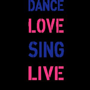 Tanz-Liebe singen Live