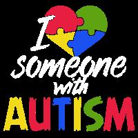 Ich liebe jemand mit Autismus-Shirt