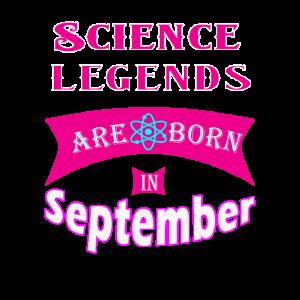 Wissenschaftslegenden werden im September geboren