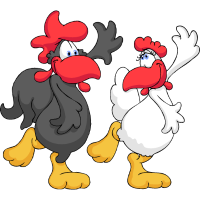Tanzen Huhn Paar