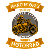 Manche Opa Motorrad