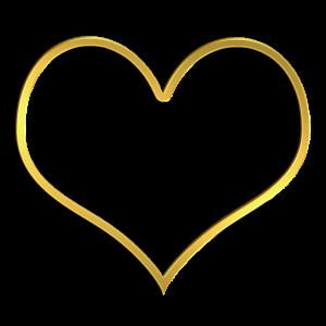 Goldenes Herz 3D