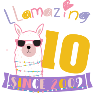 Girls 10th Birthday LLamazing Since 2009