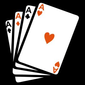 Kartenspiele Poker als Platz