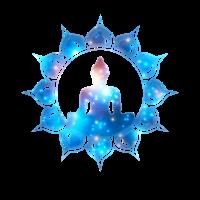 Buddha Meditation Lotusblume Herz Chakra Galaxie