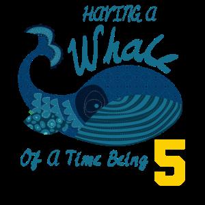 Whale Kids Shirt 5. Geburtstag Geschenk Jungen T-Shirt