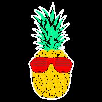 Ananas mit Sonnenbrille