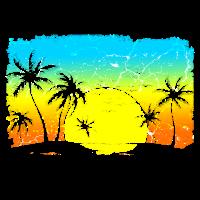 Sonne Strand Palmen Meer Ozean Urlaub Sommer