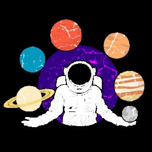 Astronaut Jonglieren Planeten