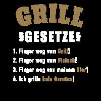 Grill Gesetzte Grillen Geschenk Shirt