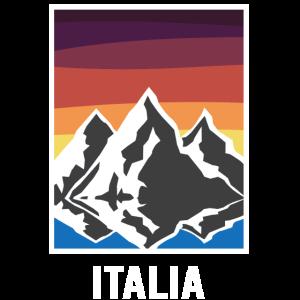 Berge in Italien in retro Farben Geschenk