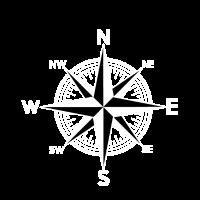 Weiß Windrose Kompass
