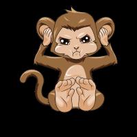 Böser Affe nichts hören Affenliebhaber Geschenk