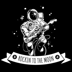 Crypto T-Shirt Bitcoin Rockin to the Moon HODL
