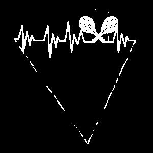 tennis shirt gift heartbeat Herzschlag geschenk