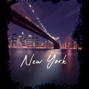 Brooklyn Bridge New York bei Nacht