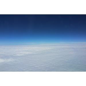 blauer Himmel, weiße Wolken - Flug über Australien