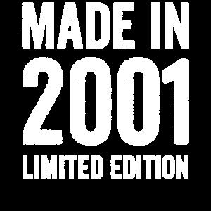 Achtzehn Made in 2001 18. Geburtstag Geschenkidee