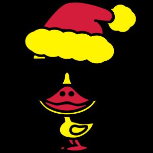 Coole Ente Weihnachten mit Sonnenbrille