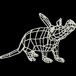Erdferkel WireFrame von Paperwolf