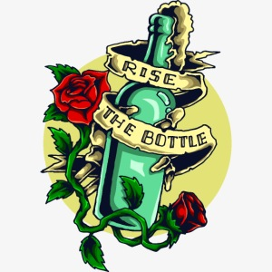 Eine Flasche Alkohol