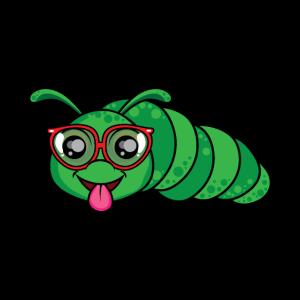 Lustiges Geek Caterpillar