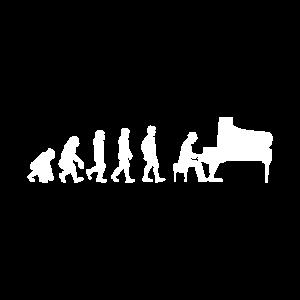 Piano Evolution - Klavier Pianist Musiker Geschenk