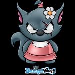 Wolfette With DesignWolf Logo
