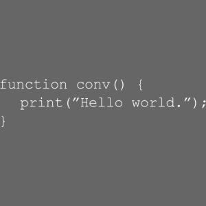 Conversation Function White