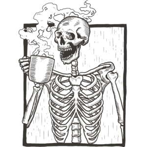 Skelett Portrait Kaffee Geschenk