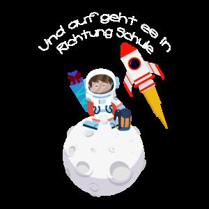 Schule Schulkind Süß Astronaut Rakete Mond