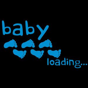 Baby Boy Loading Footprints Logo