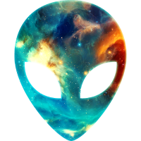 Alien, Kopf, Emoji, Galaxy Style